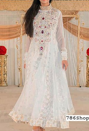 White Net Suit Buy Pakistani Indian Dresses 786shop Com