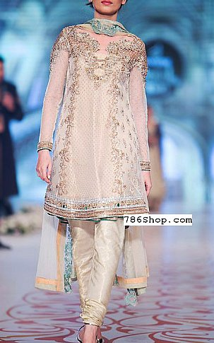 e3eb30552505 Off-white Crinkle Chiffon Suit | Buy Pakistani Indian Dresses | 786Shop.com