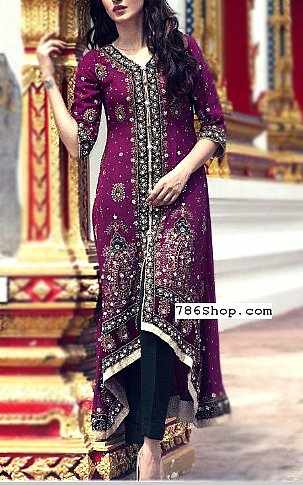 8f7100fa23208 Indigo Crinkle Chiffon Suit | Buy Designer Party Fashion Dress