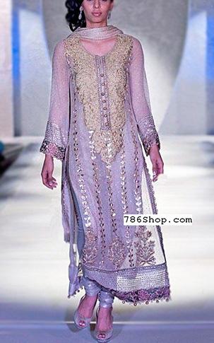 Lilac Crinkle Chiffon Suit Buy Pakistani Indian Dresses