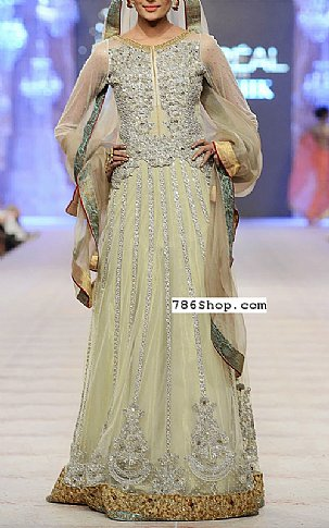Light Green Crinkle Chiffon Suit | Pakistani Party and Designer Dresses in USA