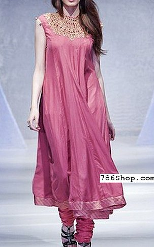 Tea Pink Silk Suit | Pakistani Party and Designer Dresses in USA