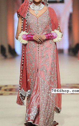 Tea Pink Crinkle Chiffon Suit | Pakistani Party and Designer Dresses in USA