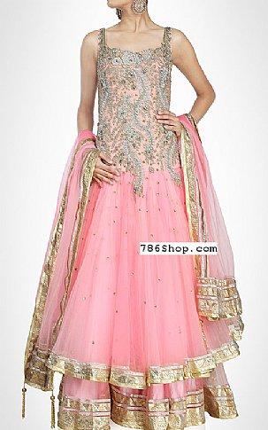 Pink Crinkle Chiffon Suit | Pakistani Wedding Dresses in USA