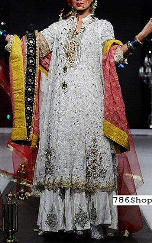 Off-white Chiffon Suit | Pakistani Wedding Dresses in USA