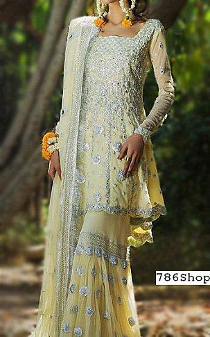 Cream Chiffon Suit   Pakistani Wedding Dresses