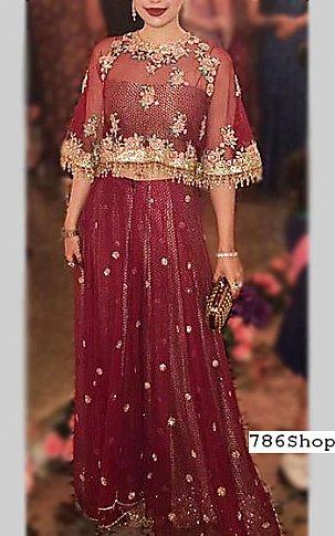 4d22bc7773 Maroon Chiffon Suit | Buy Pakistani Indian Dresses | 786Shop.com
