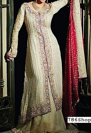 Light Golden Chiffon Suit | Pakistani Wedding Dresses in USA