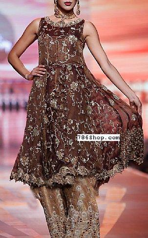 f0323c9c1a Chocolate Crinkle Chiffon Suit | Buy Pakistani Indian Dresses ...