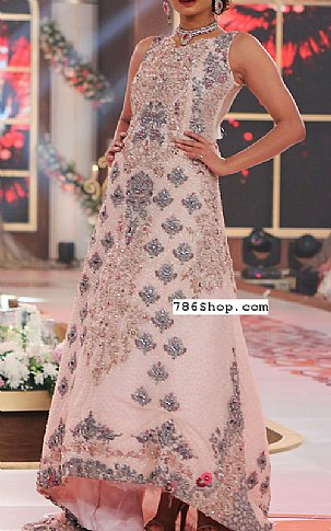 Pink Crinkle Chiffon Suit | Pakistani Party and Designer Dresses in USA