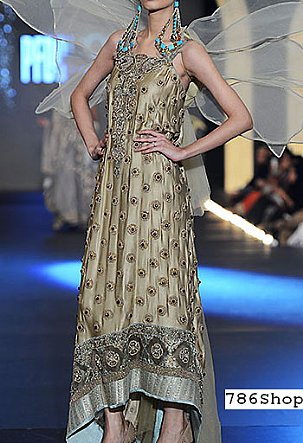 Golden Crinkle Chiffon Suit | Pakistani Party and Designer Dresses in USA