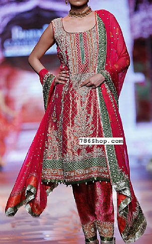 Magenta Silk Suit | Pakistani Party and Designer Dresses in USA