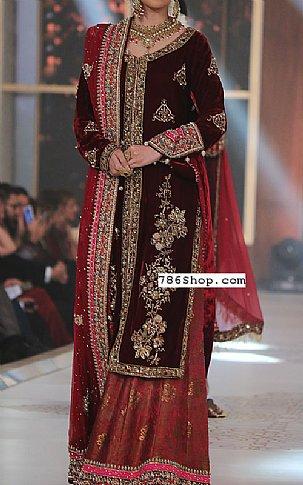 Maroon Velvet Suit Buy Pakistani Indian Dresses