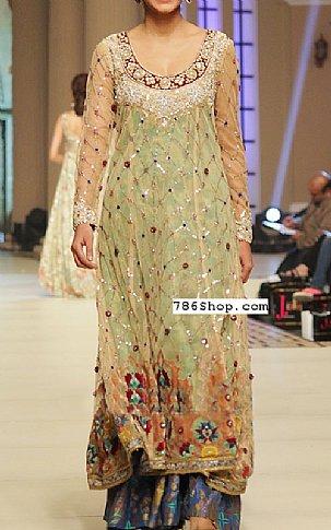 Light Green Chiffon Suit | Pakistani Wedding Dresses