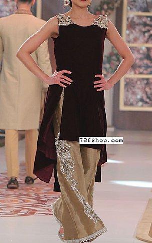 Maroon Velvet Suit | Pakistani Party and Designer Dresses