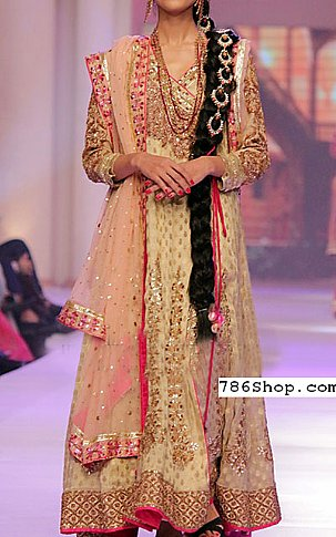 Ivory Chiffon Jamawar Suit | Pakistani Party and Designer Dresses in USA