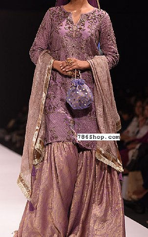 Purple Chiffon Suit | Pakistani Wedding Dresses in USA
