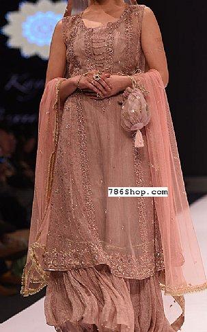 Rose Gold Chiffon Suit | Pakistani Wedding Dresses
