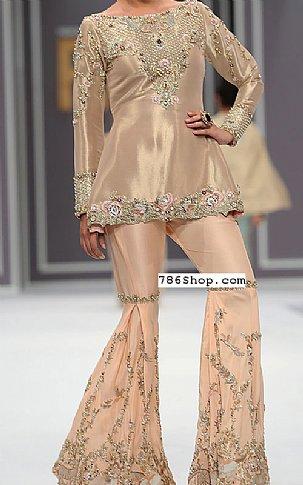 Peach Silk Suit | Pakistani Wedding Dresses in USA