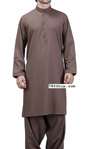 376c5a26cf Home Mens DressesMen's shalwar KameezChocolate Men Shalwar Kameez Suit