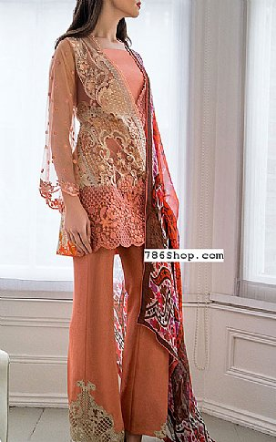 Peach Lawn Suit | Pakistani Lawn Suits in USA