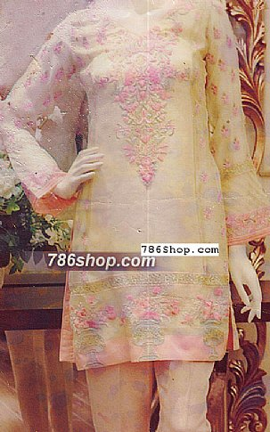 Light Green Organza Suit   Pakistani Chiffon Dresses