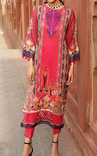 Hot Pink Lawn Suit (2 Pcs) | Pakistani Lawn Suits