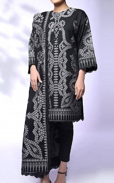 Black Jacquard Suit   Pakistani Chiffon Dresses