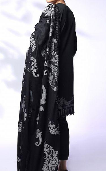 Black Jacquard Suit | Pakistani Chiffon Dresses