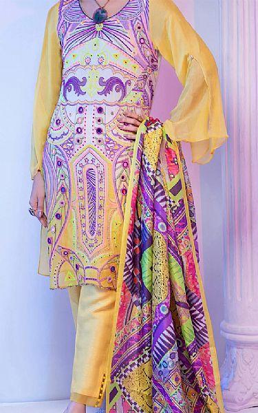 Sand Gold Georgette Suit | Pakistani Chiffon Dresses