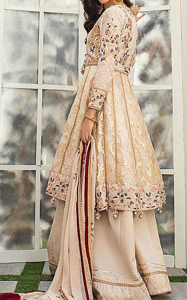 Beige Jacquard Suit | Pakistani Chiffon Dresses