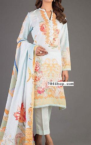 Sky Blue Karandi Suit | Pakistani Winter Clothes