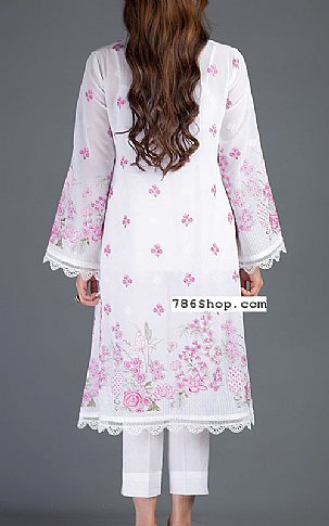 White/Pink Lawn Suit   Pakistani Lawn Suits in USA
