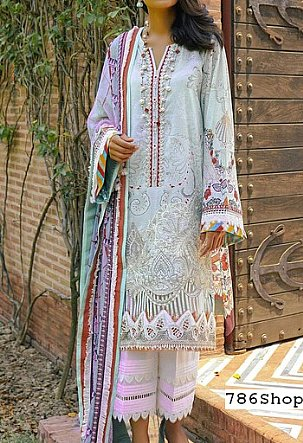 Light Turquoise Lawn Suit | Pakistani Lawn Suits in USA