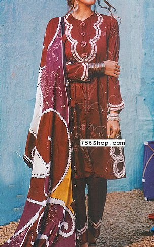 Burgundy Lawn Suit | Pakistani Lawn Suits in USA