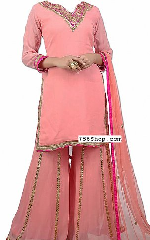 Pink Chiffon Suit | Pakistani Dresses in USA