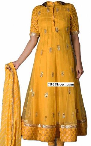 Yellow Chiffon Suit | Pakistani Dresses in USA