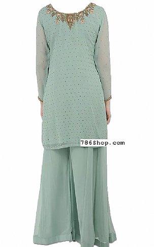 Light Grey Chiffon Suit | Pakistani Dresses in USA