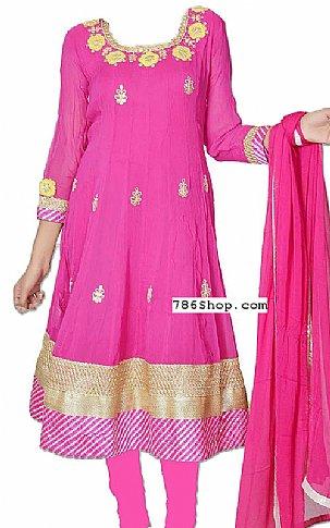 Hot Pink Chiffon Suit | Pakistani Dresses in USA