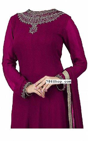 Plum Chiffon Suit | Pakistani Dresses in USA