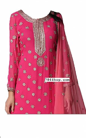 Pink Chiffon Suit   Pakistani Dresses in USA