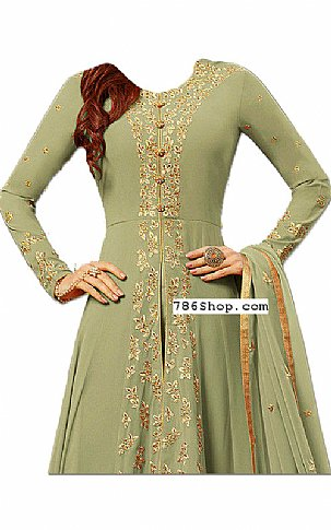 Light Green Chiffon Suit | Pakistani Dresses in USA