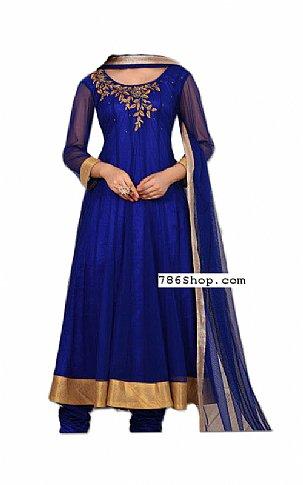 Royal Blue Chiffon Suit   Pakistani Dresses in USA