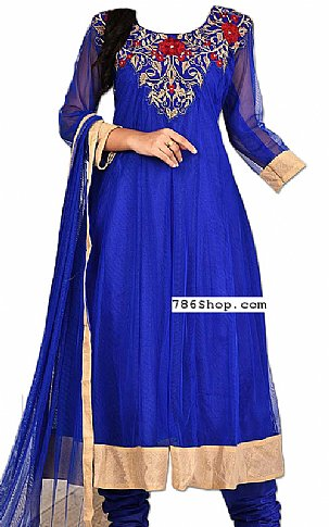 Blue Chiffon Suit | Pakistani Dresses in USA