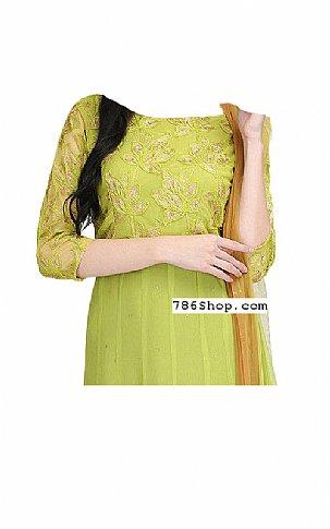 Apple Green Chiffon Suit | Pakistani Dresses in USA