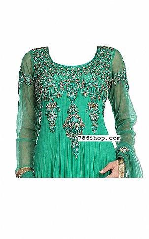 Sea Green Net Suit | Pakistani Dresses in USA