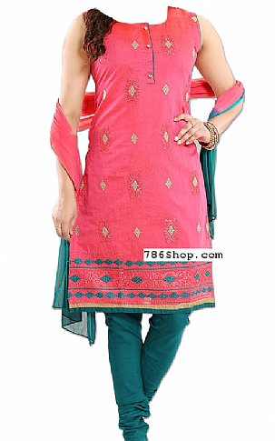 Pink/Teal Georgette Suit | Pakistani Dresses in USA