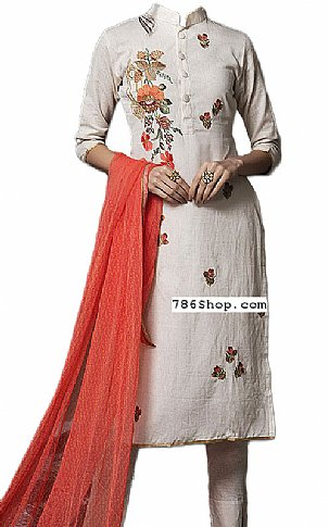 Off-white Georgette Suit   Pakistani Dresses in USA