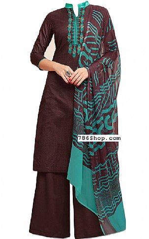 Chocolate Georgette Suit | Pakistani Dresses in USA
