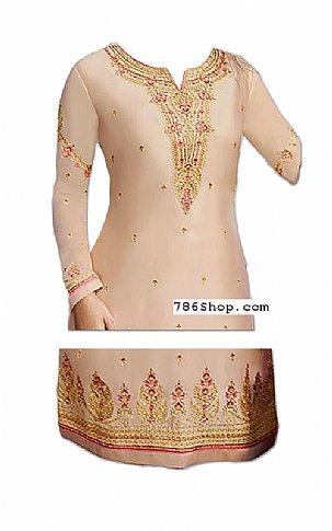 Beige Chiffon Suit | Pakistani Dresses in USA